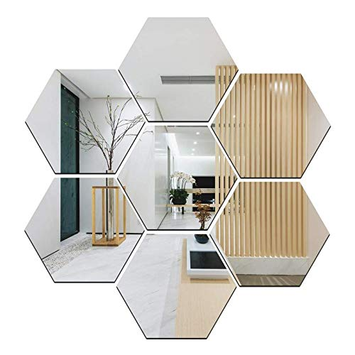 Atulya Arts - Offering 3D Large Hexagon Acrylic Stickers (Pack of 7) with 10 Butterfly Acrylic...