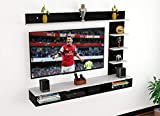 DAS Wall Mount TV Entertainment Unit/with Set Top Box Stand and Wall Shelf Display Rack for Living Room Black & White (Ideal for up to 43') Screen- Ambienc