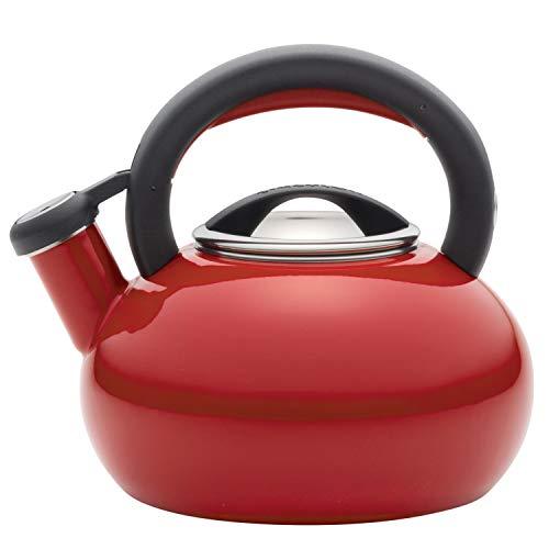 Circulon 50066 Sunrise Whistling Kettle/Stovetop Teakettle/Tea Pot, 1.5 Quart, Bell Pepper Red