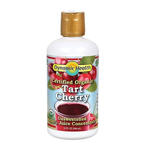 Dynamic Health Organic Tart Cherry | Unsweetened 100% Juice Concentrate | Vegan, Gluten Free, BPA Free (32oz)