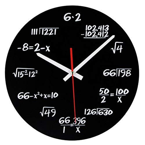 Vientiane Orologio da Parete Matematico,Timelike novit Orologio da Parete Matematico Unico Orologio,...