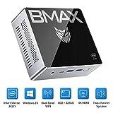 BMAX ミニPC、Intel Celeron J4115 プロセッサ Windows10 搭載 小型PC 8GBメモリー+128GB 、Bluetooth 5.0、2.4G WiFi対応無線LANディスクトップパソコン
