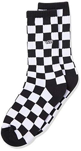Vans Checkerboard Crew Boys (1-6, 1PK) Calzini, Black-White Check, Taglia Unica Unisex-Bambini