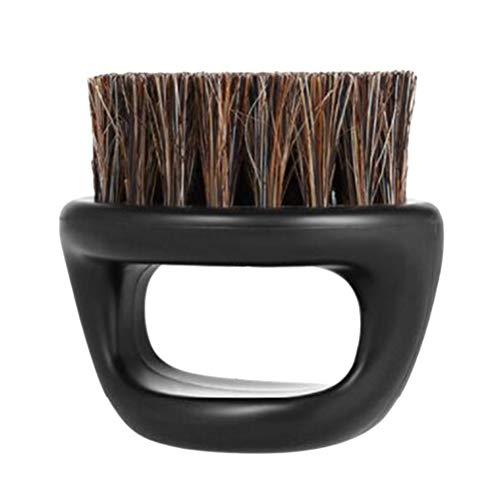 Healifty Beard Brush Boar Bristle Mustache Brush with ABS Handle (Black)