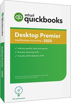 QuickBooks Desktop Premier 2020 Accounting Software for Small Business with Amazon Exclusive Shortcut Guide [PC Disc…
