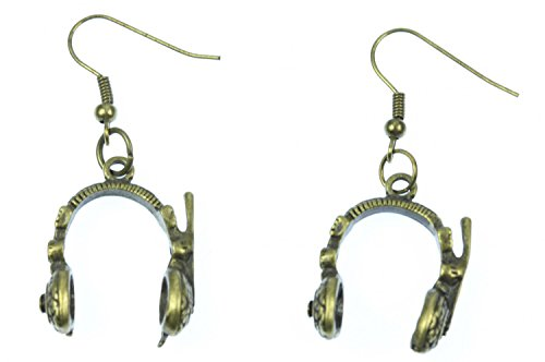 orecchini gancio per le cuffie Miniblings cuffie DJ band Speaker bronzo