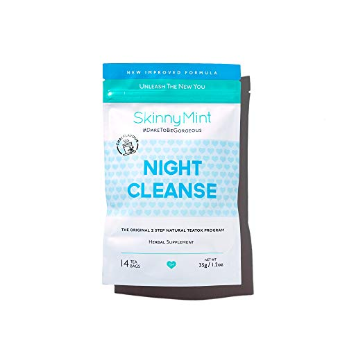 SkinnyMint Night Cleanse Teatox. All Natural Detox Tea Cleanse for Weight Loss 1