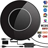 Digital TV Antenna, Newest 2020 Indoor HDTV Antenna Amplified 150 Miles Range Support 4K 1080P and All Older TV's Digital Antenna with Signal Booster,17ft Coax Cable/USB Power Adapter (Black.)
