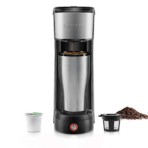 Chefman InstaCoffee Single Serve Coffee Maker Compatible with...