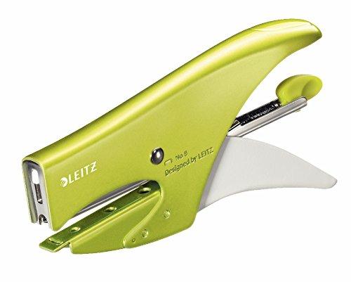Leitz Cucitrice a pinza, Caricamento posteriore, Capacit fino a 15 fogli, Metallo, Colore: Verde...