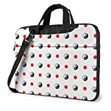 15.6″Durable Hombro Mensajero Bolsa maletín PC Bola Yin Yang Moda Impermeable Ordenador Portátil/portátil/Tablets