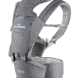 Baby Carrier, Eccomum Multifunction Baby Carrier Hip Seat (Ergonomic M Position) for 3-36 Month Baby, 6-in-1 Ways to Carry, All Seasons, Adjustable Size, Perfect for Hiking Shopping Travelling