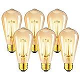 LVWIT Ampoule à filament LED E27 ST64 7.5W, 865Lm Equivalent à Ampoule...
