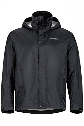 Marmot Men's PreCip Lightweight Waterproof Rain Jacket,Black,Large