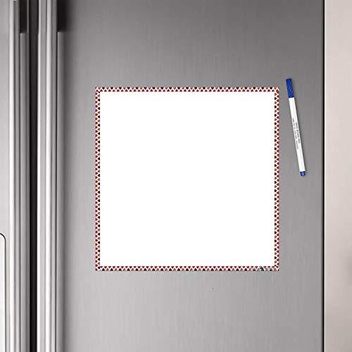 WallDesign Vinyl Tiger Dots Writing Film Flexible Fridge Magnet (1ft x 1ft, White)