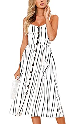 Material: 85% Polyester+15% Cotton. 100% brand new and high quality! Style: Sexy, Floral, V Neck, Backless, A Line, Adjustable Spaghetti Strap, Midi Length, Flowy Occasion: Spring, Summer, Fall, Date, Party, Beach, Daily Casual, At Home Tag S=US 4-6,...