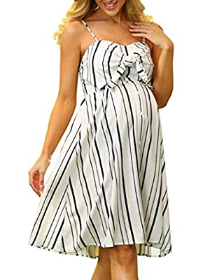 Fabric: 98%Polyester+2%Viscose. Soft and Next to the Skin Features: Spaghetti straps, Shoulder straps are adjustable, Sweetheart neckline, Self-tie bow-knot adorns bodice, Decoration buttons in the front, Smocked back, Flared A-Line silhouette Fit fo...