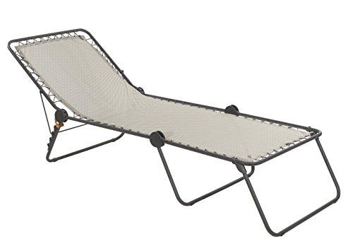Lafuma Sonnenliege, Klappbar mit verstellbarem Rückenteil, Mit Schnürsystem, Siesta L, Batyline, seigle (beige)