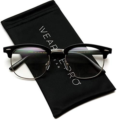 Vintage Inspired Blue Light Blocking Glasses Classic Half Frame...