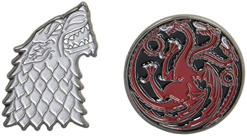 Game of Thrones Twin Pins: Stark and Targaryen Sigils