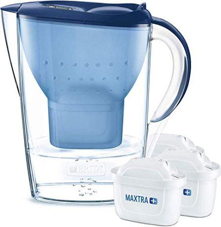 BRITA Wasserfilter Marella blau inkl. 3 Filterkartuschen