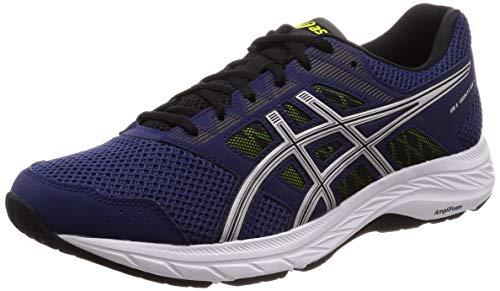 ASICS Men's Gel-Contend 5 Indigo Blue/Silver Running Shoes - 6 UK/India (40 EU) (7 US)(1011A256.401)