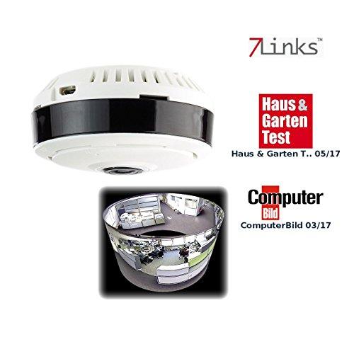 7links IP Kamera 360 Grad: IP-Panorama-Überwachungskamera für 360°-Rundumsicht & Nachtsicht, 960p (360 Grad Kamera Überwachung)