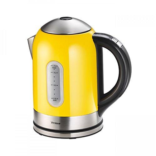 Trisa Electronics 6434.5212000000001 6434.19/.24/.52 Vario Control Wasserkocher, 1.7 liters, gelb