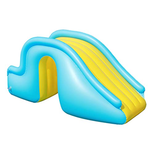 Kleine Aufblasbare Wasserrutsche, Zubehör Für Kinder-Planschbecken, Geeignet Für Innen- / Außen- / Strand- / Pool- / Garten- / Garten- / Sommerwasserparty, Mit Fußpumpe