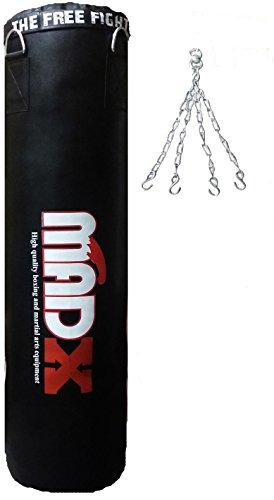 MADX - Saco de boxeo de 152,4 cm, color negro, incluye cadena