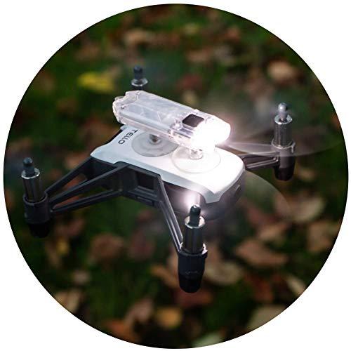 Roboterwerk Drone LED Luce (per Ryze DJI Tello), 45 Lumen, Luce Bianca, Transparente