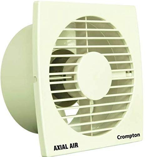crompton Axial Air High-Speed Plastic Exhaust/Ventilation Fan (150 mm/6 Inches, White)