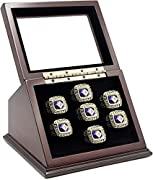The display case made by Heavy Wooden Material with Real Glass Window. Great for collectibles & memorabilia This display case is elegant way to hold and showcase for championship rings. The insert foam designed to fit most of the sizes and styles of ...