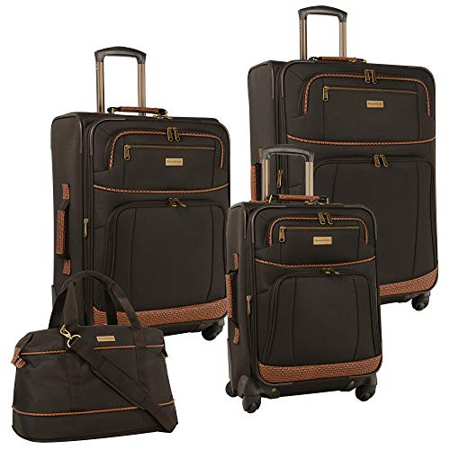 Tommy Bahama 4 Piece Lightweight Expandable Luggage Suitcase Set, Dark Brown