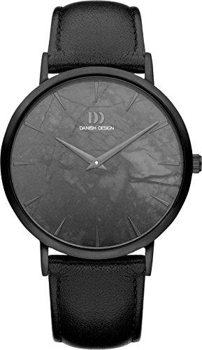 Danish Design Herren Analog Quarz Uhr mit Leder Armband IQ53Q1217
