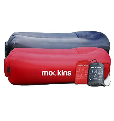 (2 Pack) Inflatable Lounger With Travel Pouch