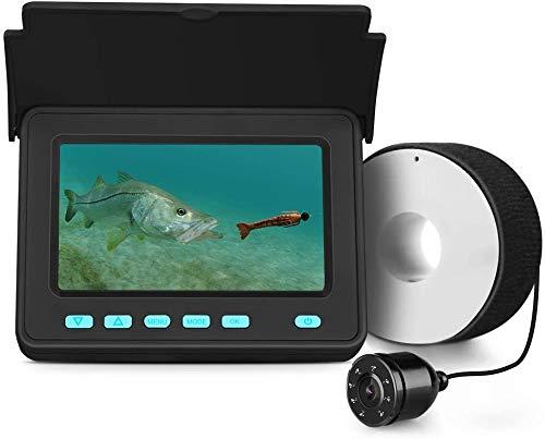 Eyoyo Portable Underwater Fishing Camera Fixed on Rod Underwater Video Fish Finder 4.3 inch Monitor...