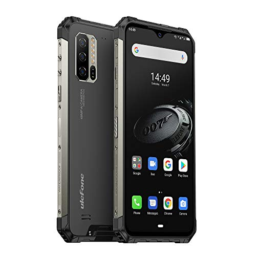 "Ulefone Armor 7E Rugged Cell Phones Unlocked, IP68 Waterproof Smartphone, 48MP+2MP+2MP Triple Rear Camera, 4GB+128GB Octa-Core 6.3"" FHD+ Screen Android 9.0 5500mAh Battery Dual 4G LTE Rugged Phone"