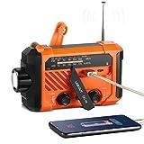 TThorFire Radio Solaire Portable d'urgence à Manivelle, Multifonction...