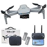 le-idea IDEA37 Drone 4K Quadcopter GPS Profesional, Cardán de 2 Ejes con Cámara EIS HD, 5GHz Wifi...