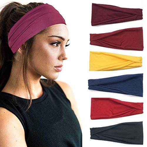 IYOU Fasce sportive Fascia per lo yoga Fasce per capelli elastici per il fitness Fascia nera in...