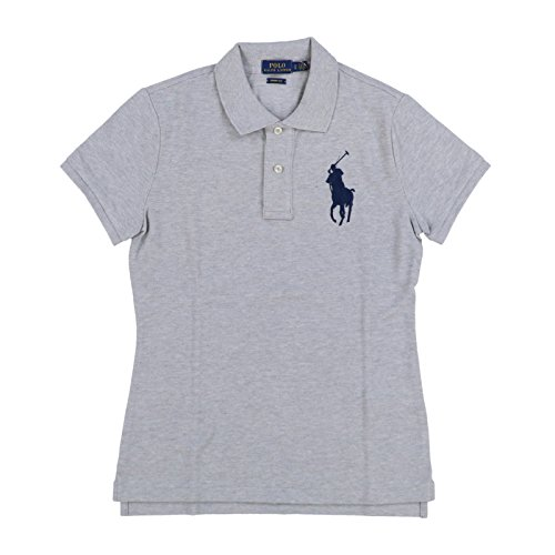 Polo Ralph Lauren Womens Big Pony Skinny Fit Polo Shirt (M, Taylor Heather)