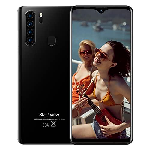 Blackview A80 Plus Cellulari Offerte, Schermo 6.49'' HD+ In-Cell Waterdrop Telefoni, Helio P25 Octa-core 4GB+64GB Mobile, 4680mAh Batteria 4G Smartphone, 13MP Quad Camera, Android 10.0, Dual SIM, NFC