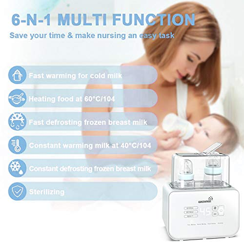 Baby-Bottle-Warmer-Bottle-Sterilizer-6-in-1Fast-Baby-Food-HeaterDefrost-BPA-Free-Warmer-with-LCD-Display-Accurate-Temperature-Control-for-Breastmilk-or-Formula