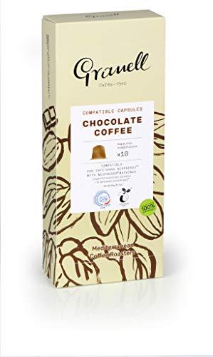 Granell - Aromas - Espresso Chocolate | Capsulas Compatibles Nespresso 100% Café Arabica - 10 Cápsulas de Café Compostables