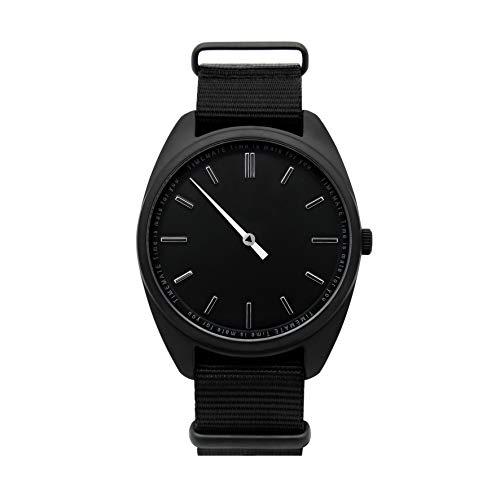TIMEMATE Einzeigeruhr für Herren TM-10010 Triple Black mit Nylonband