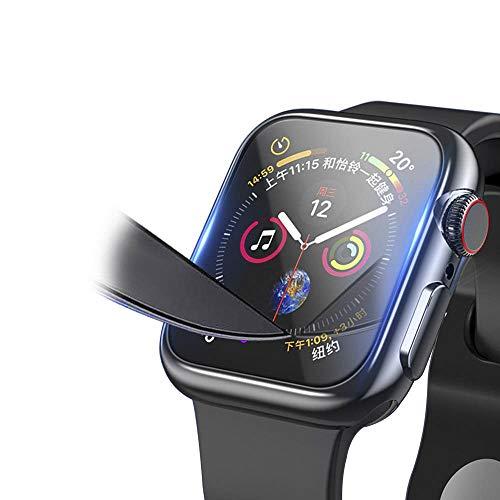 Myada Vetro Temperato per Apple Watch 40 mm, Pellicola Protettiva per iWatch Series 4 display, Pellicola in Vetro Pieno Copertura 9H Vetro Temperato Trasparente per iWatch 40 mm