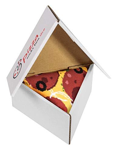 Pizza Socks Box Slice Pepperoni - Donna Uomo - 1 paio di Calze - Taglia 41-46