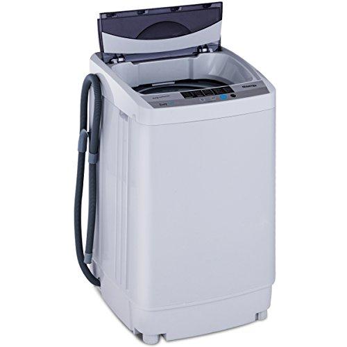 COSTWAY Mini Lavatrice Multifunzione Lavasciuga, Capacit Nominale di Lavaggio: 4,5 kg, Potenza di Lavaggio: 310 W, 85,3 x 50,3 x 50 cm, Grigio