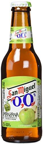 San Miguel Cerveza Manzana Sin Alcohol - Paquete de 24 x 250